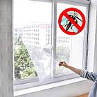 Москитная сетка на окно c самоклеящейся крепежной лентой 130 х 150 см 369-CW
