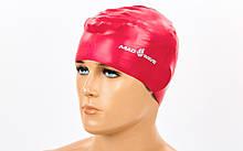 Шапочка для плавания MadWave SOLID M056501 Красный, КОД: 1915380