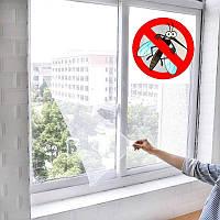 Москитная сетка на окно c самоклеящейся крепежной лентой 130 х 150 см 369-CW, фото 1