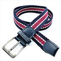 Ремень резинка Weatro Сине-бордовый rez35-new-008, КОД: 2416790