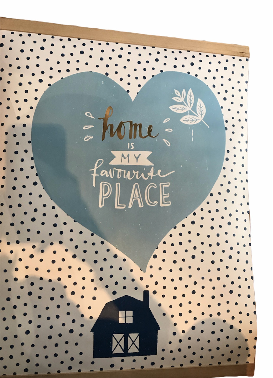 "Плакат-постер ""Home is my favourite place"" Edeka 50 х 60 см"