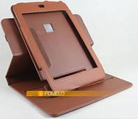 Вращающийся коричневый чехол для Archos 101 G9 из синтетической кожи.
