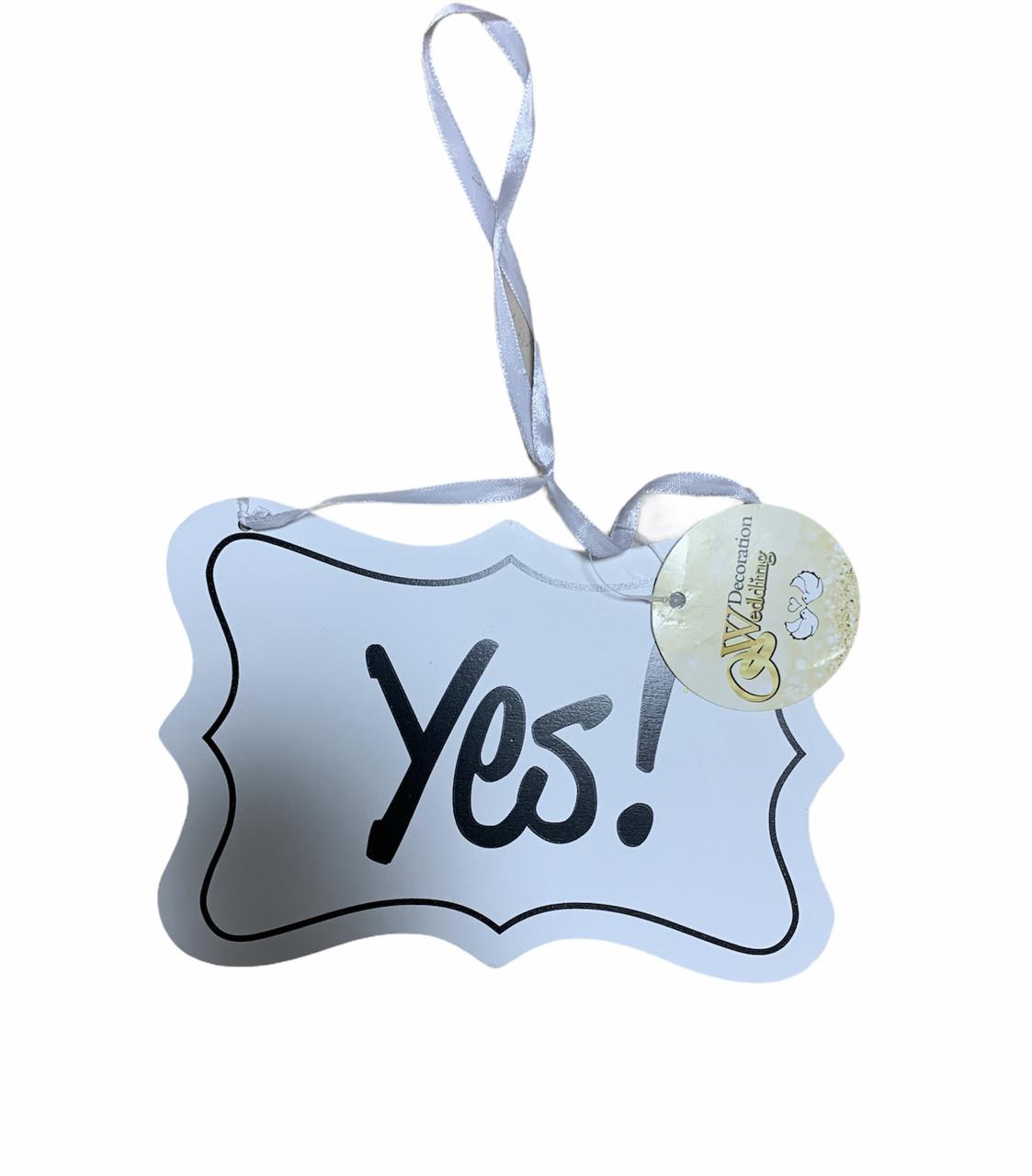 """Табличка підвісна з написом """"Yes!"""" Edeka"""