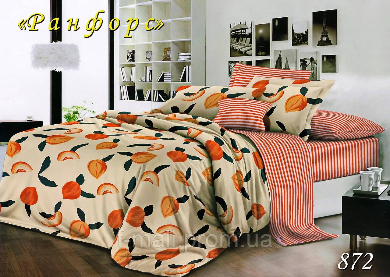 Двуспальное постельное белье Тет-А-Тет (Украина)  ранфорс простынь на резинке (872)