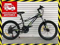 Горный подростковый велосипед Топ Райдер 14 рама 24 дюймов колеса салатовый