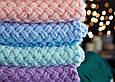 Набор из Alize Puffy для вязания большого плюшевого пледа 1,5х2 м + 1 моток в подарок + бесплатная доставка, фото 6