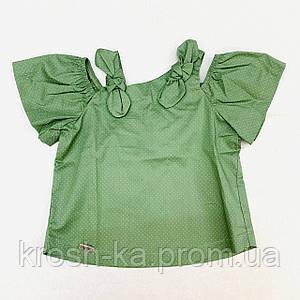 Блуза для девочки (104-122)р короткий рукав хаки Бонни (Suzie)Сьюзи Украина БЛ-82113