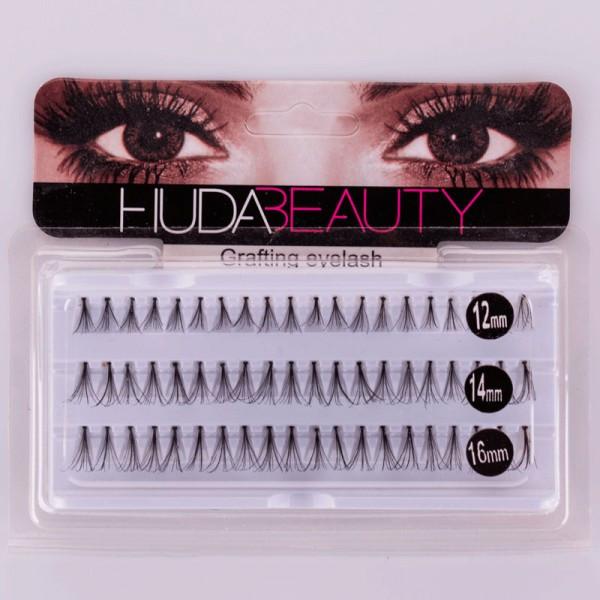 Пучкові вії Huda Beauty Мікс 12,14,16