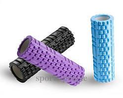 Массажный ролик (роллер, валик) для йоги MS 1836, 30*8.5 см, разн. цвета