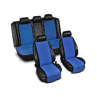 ТОП Якість Накидки на сидіння з Алькантари вузькі колір синій