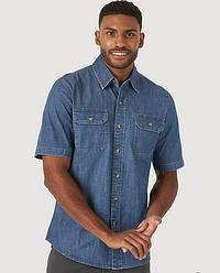 Рубашка джинсовая Wrangler - Mid Wash
