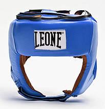 Боксерський шолом для змагань Leone Contest Blue L, фото 3