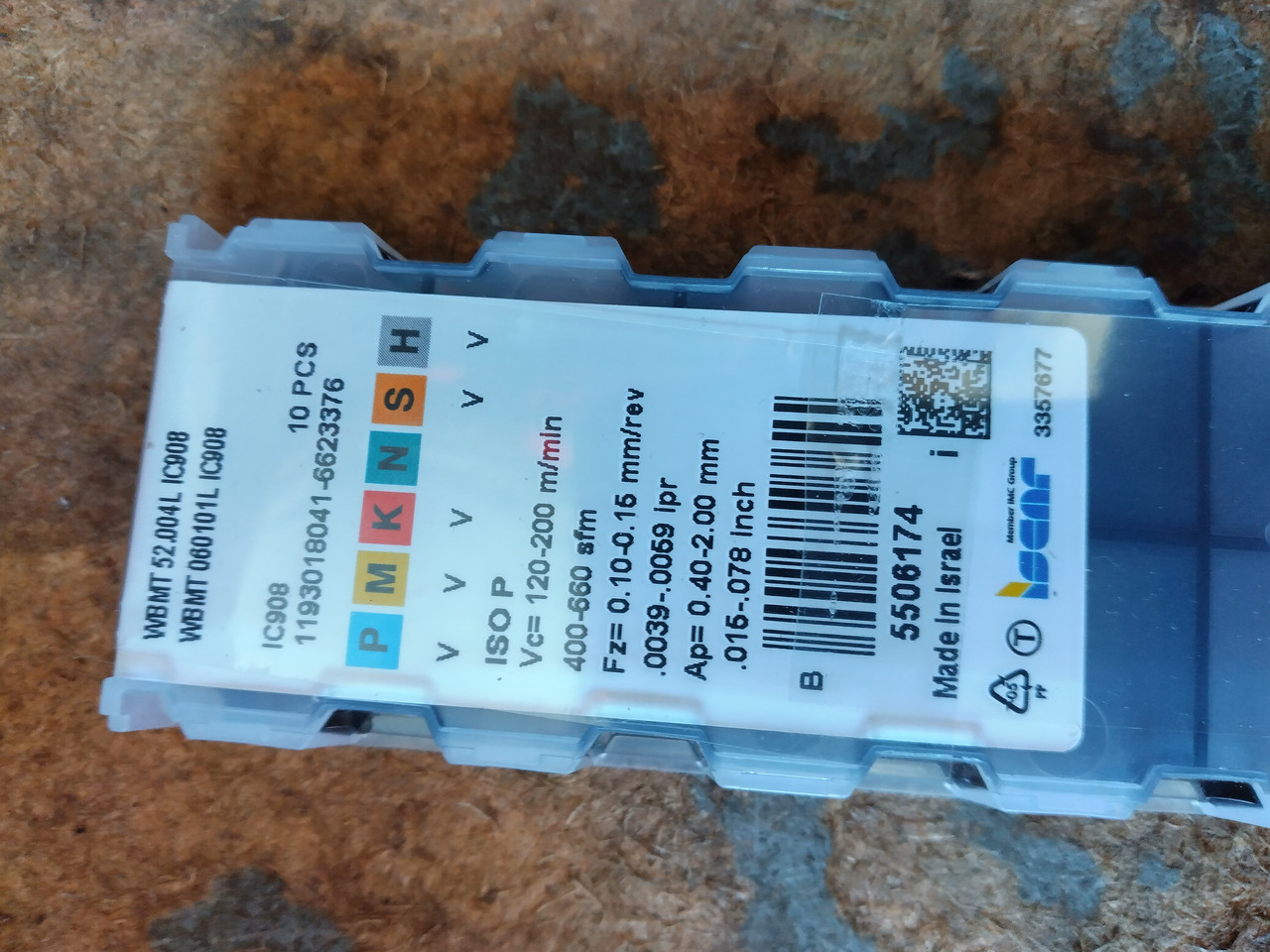 Пластина iscar WBMT 52.004 L ic908
