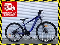 Спортивный подростковый велосипед Топ Райдер 14 рама 24 дюймов колеса М550 синий