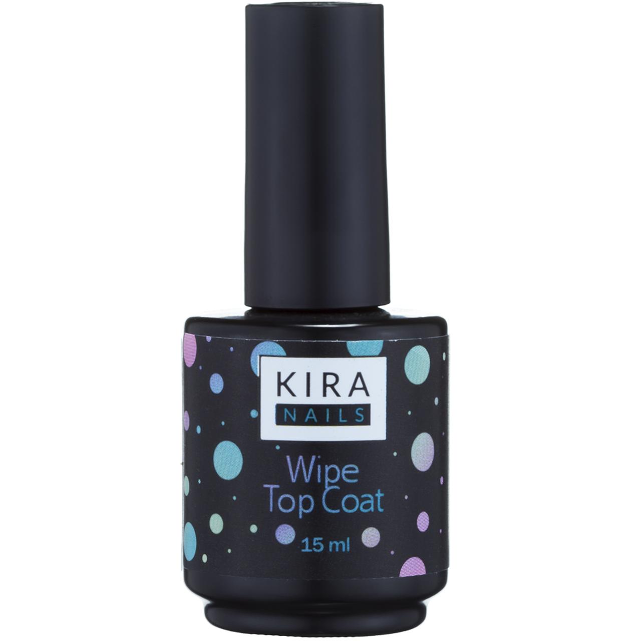 Топ гель для лаку Kira Nails NO Wipe Top Coat 15 мл без липкого шару