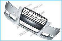 Передний бампер Audi A6 С6 (08-11) с отв. омывателя, без п/троника (FPS) 4F0807105AA