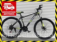 Горный подростковый велосипед Топ Райдер 19 рама 29 дюймов колеса К611 салатовый