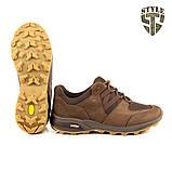 Кросівки Мустанг шоколад нубук 3D-сітка Airmesh, фото 5