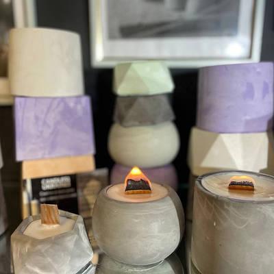 Свечи аромо в кашпо, свечи с деревянным фитилем