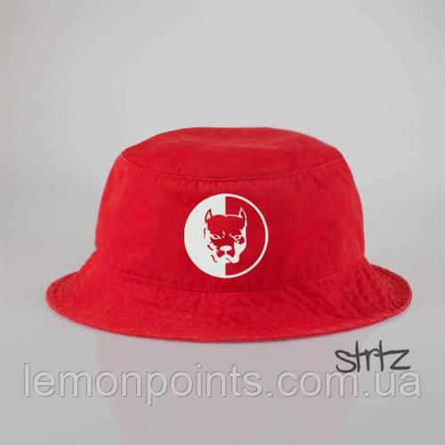 Панамка Pit Bull  летняя хлопковая  красная