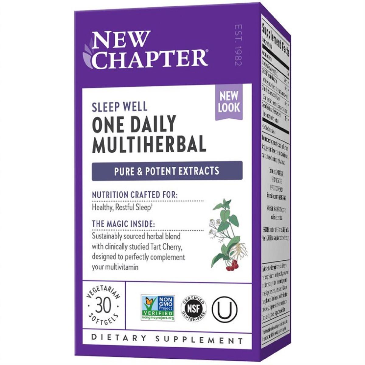 Травы для Здорового Сна, Multiherbal Sleep, New Chapter, 30 капсул
