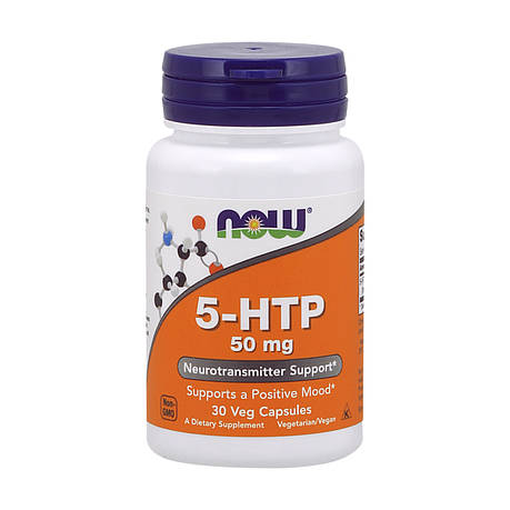 5-HTP (Гидрокситриптофан) 50 мг, Now Foods, 30 вегетарианских капсул, фото 2