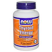 Поддержка Щитовидной Железы, Thyroid Energy, Now Foods, 90 гелевых капсул