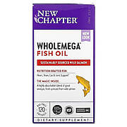 Жир Аляскинского Лосося 1000мг, Wholemega, Alaskan Salmon Oil, New Chapter, 120 желатиновых капсул