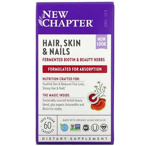 Комплекс для Оздоровления Волос, Кожи и Ногтей, New Chapter, 60 гелевых капсул, фото 2