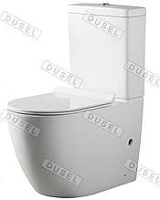 Унитаз-компакт DUSEL ARTI DTPT10210430R с бачком и сиденьем Slim Soft-Close