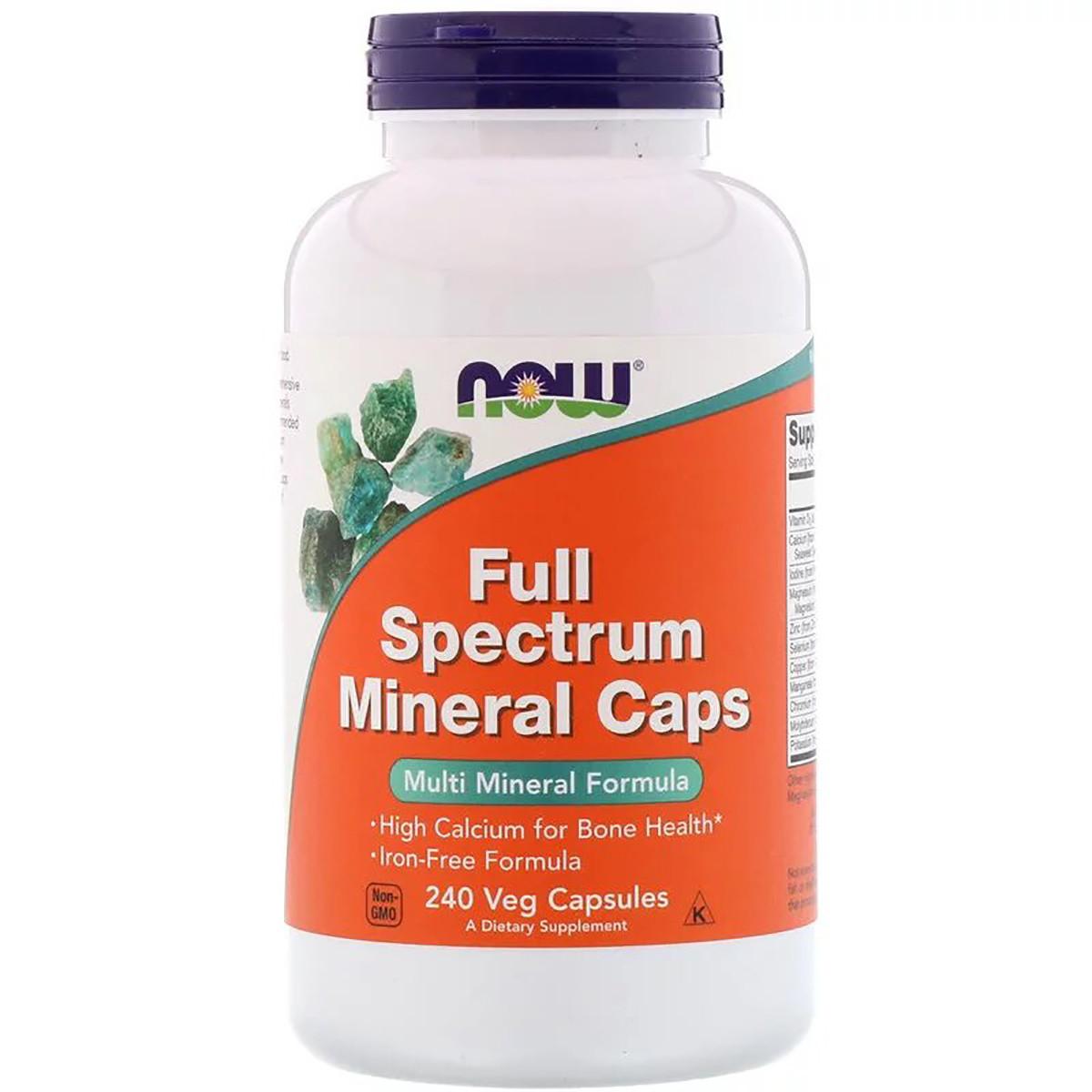 Мультиминералы полного спектра, Now Foods, Full Spectrum Minerals, 240 капсул