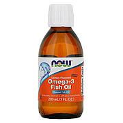 Омега 3 со вкусом лимона, Omega 3, Now Foods, 200 мл (7 жидких унций)