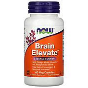 Комплекс для Поддержки Мозга, Brain Elevate, Now Foods, 60 Вегетарианских Капсул