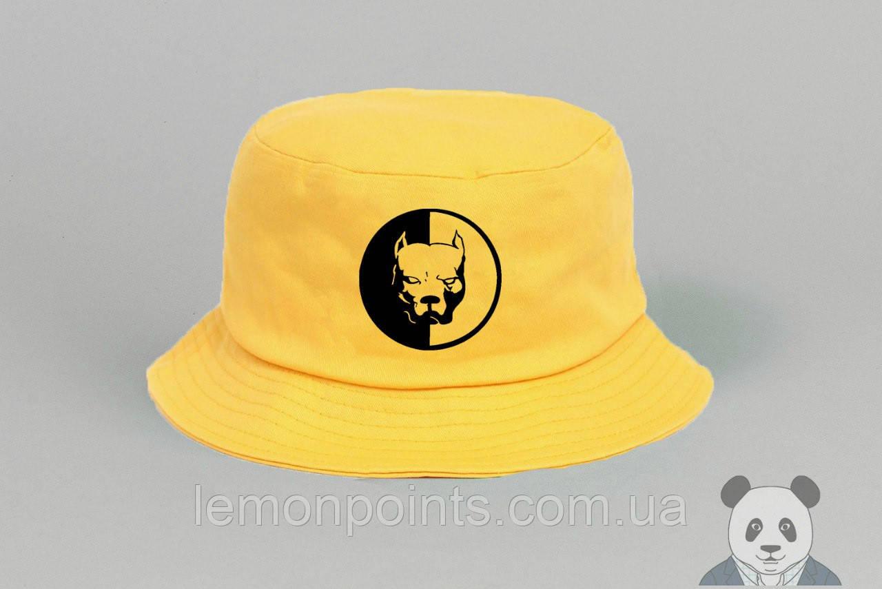 Панамка Pit Bull  летняя хлопковая  желтая