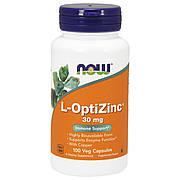 L-ОптиЦинк 30 мг, L-OptiZinc, Now Foods, 100 гелевых капсул
