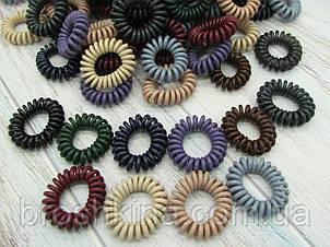 Гумки пружинки Ø4 см силікон 100 шт/уп. кольорові