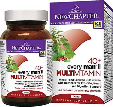 Ежедневные Мультивитамины для Мужчин II 40+, Every Man's, New Chapter, 48 таблеток, фото 2