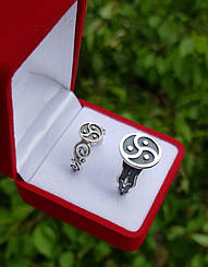 Женское серебряное кольцо, БДСМ символика, ручная работа