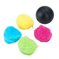 Шар мяч уборщик, мини робот-пылесос + 4 чехла из микрофибры