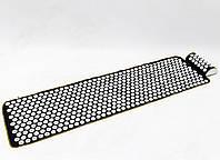 Массажный коврик Аппликатор Кузнецова + валик массажер для спины/шеи/ног/стоп/головы/тела OSPORT (n-0009)