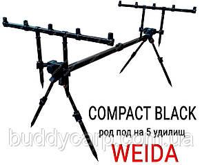 Род-под A09-9 под 5 удилищ Compact Black Weida (Kaida)