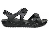 Кроксы сабо Мужские Swiftwater River Sandal black М10 43-44 27,2 см Черный