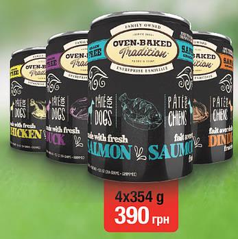 Консервированный корм для собак Oven-Baked Tradition с уткой, 4 шт х 354 г