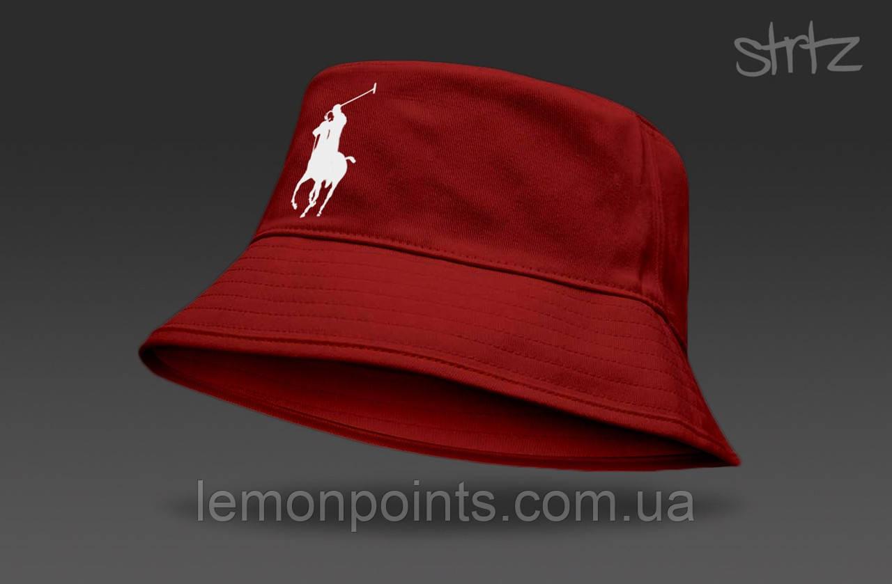 Панамка Ralph Lauren  летняя хлопковая  красная