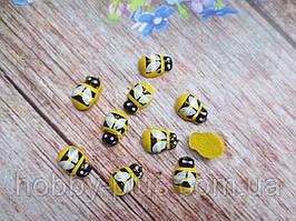 """Дерев'яні заготовки """"Бджілка"""" (без липучки), 9х12 мм, 10 шт."""