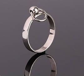 """Женское серебряное """"О"""" кольцо, БДСМ символика, ручная работа"""