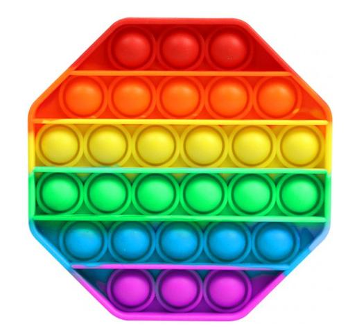 Игрушка детская POP IT Антистресс силиконовый восьмиугольник разноцветный