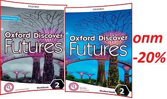 Англійська мова / Oxford Discover Futures / student's+Workbook+Onine. Підручник+Зошит (комплект), 2 / Oxford