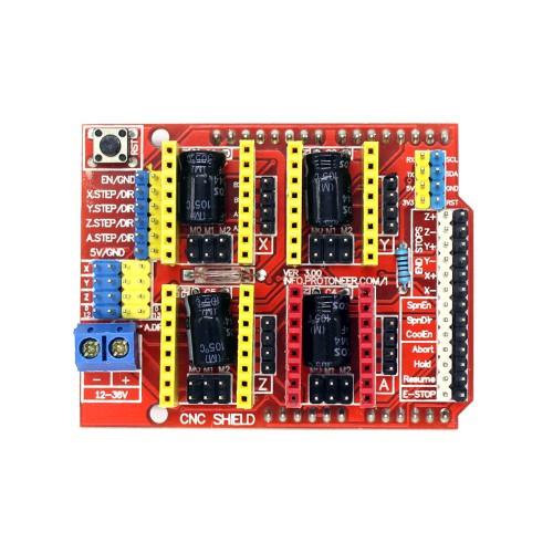 Плата розширення ЧПУ V3 Engraver 3D Printer CNC Shield Expansion Board A4988 Driver For Arduino UNO