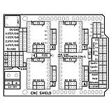 Плата розширення ЧПУ V3 Engraver 3D Printer CNC Shield Expansion Board A4988 Driver For Arduino UNO, фото 3